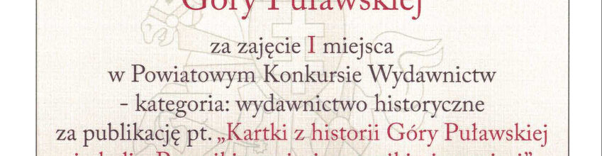 Nasz sukces w Powiatowym Konkursie Wydawnictw.